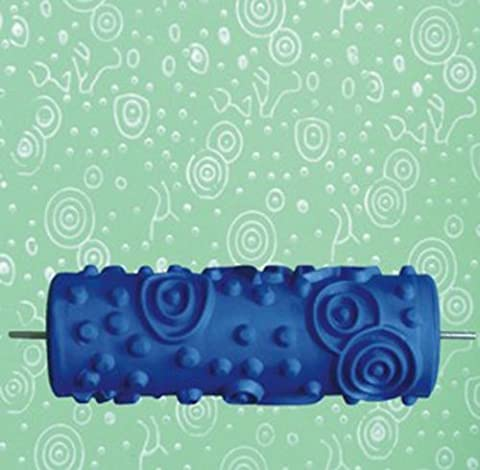 15cm DIY Ripple and Dot Pattern Paint Roller for Wall Decoration 020Y by GRBRENH