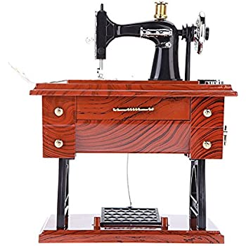 Amazon Patty Both Musical Sewing Machine Music Box Vintage Look Extraordinary Singer Sewing Machine Music Box
