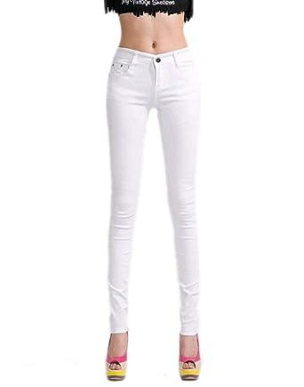 Pantalon Slim pour Femmes Jeans Legging Leggings Pantalons Jeans Legging  Treggings Simple Pantalon Couleur Unie Style c2135656779