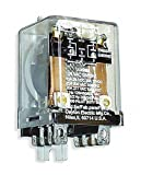 24VAC, 8-Pin Side Flange Enclosed Power Relay; Electrical Connection: 1/4'' Tab Terminal