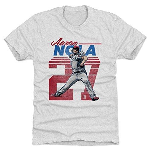 500 LEVEL Aaron Nola Triblend Shirt Large Tri Ash - Philadelphia Baseball Men's Apparel - Aaron Nola Retro R
