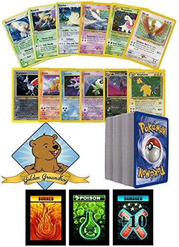 100 Assorted Pokemon Old School Cards Bundle With - Pokemon First Generation Cards
