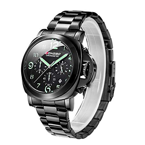 (GXOK Fashion Casual Watch for LONGBO,Multi-Functional Waterproof Sports Leisure Watch for Men - Best Gift [Ship from USA Directly] (Black))