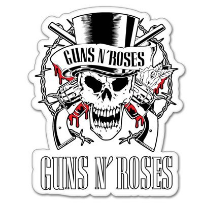 Guns N Roses Car Stickers