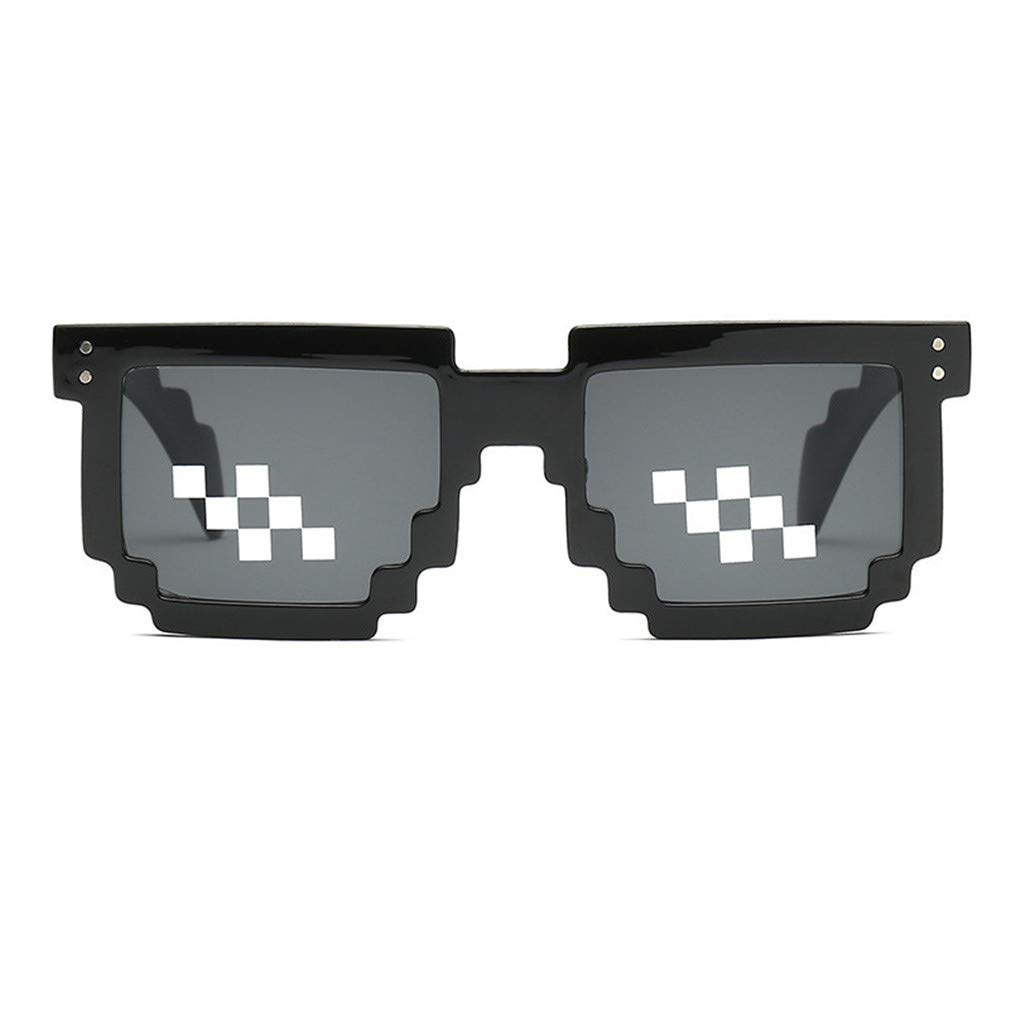 4 Pack Occhiali da sole Thug Life Glasses-Party Props Mosaic Glasses Unisex Pixel Glasses Humeng