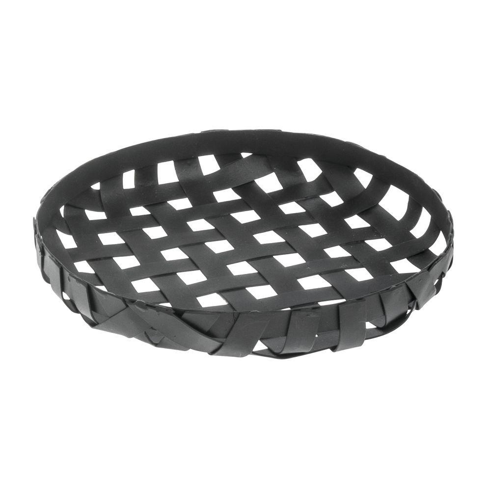 Metal Tobacco Basket Round Black - 7 1/2'Dia x 1 1/8'H Hubert