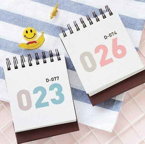 Tischkalender Kalendarien 100 Tage Countdown-Kalender Tagesplaner Tischkalender Notebook Lernplan Periodic Agenda Schulbedarf Stationery (Color : Blue)