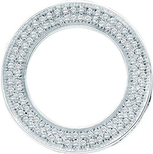 10 k or blanc Diamant 0,33 Dwt-Pendentif Cercle Doré Grade supérieur à JewelryWeb or 9 carats