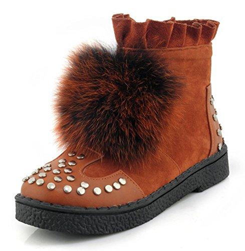 Chic Dentelle Femme Hiver Boots Aisun Jaune Fqpqtwpt Bottines Low 6qwOvn0v