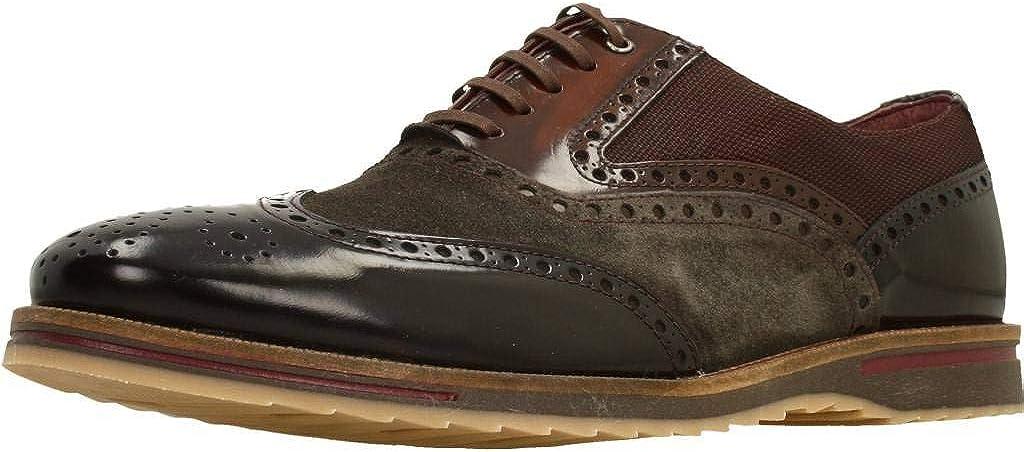 Zapatos de Cordones para Hombre, Color marrón (Moka), Marca CETTI, Modelo Zapatos De Cordones para Hombre CETTI C1029INV19 de Serraje Marrón