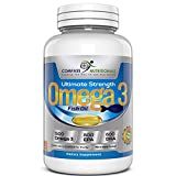 Compass Nutritionals High EPA and DHA Omega 3 Fish Oil Supplements - Pharmaceutical Grade-Provides Essential Fatty Acids -1500mg-Soft Gel Capsules - Molecularly Distilled
