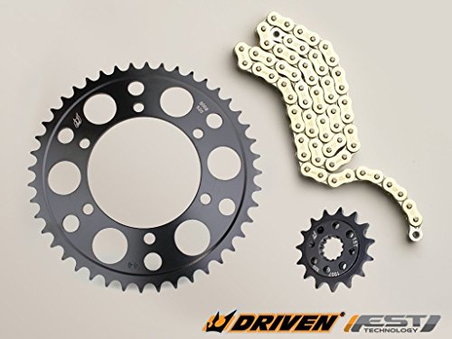 (Driven Racing Gold RK 520MAXX Chain and Evo-Spec Sprocket Kit for Honda RVT 1000R RC51 (2000-2001) )