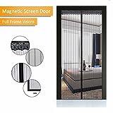 silent door handle - Magnetic Screen Door - New 2017 Design, Full Frame Velcro & Heavy Duty Mesh Curtain, 28 Sewn-in Magnets, Fits Door Up To 38 x 82-Inch by IFUNK