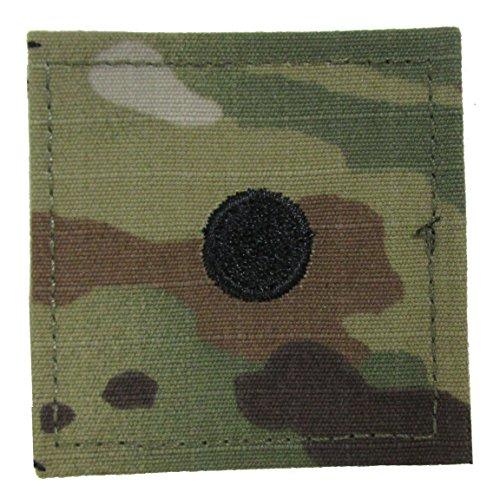 (Small Dot Army 2LT ROTC Cadet Rank - OCP Scorpion with HOOK Fastener)