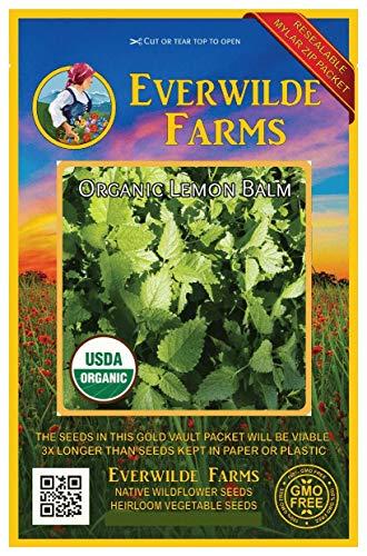 Everwilde Farms - 1000 organic Lemon Balm Herb Seeds - Gold Vault Packet