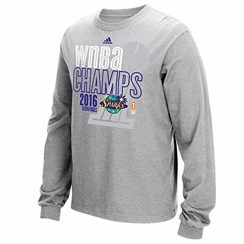 Los Angeles Sparks Wnba - adidas Los Angeles Sparks 2016 WNBA Finals Champs Long Sleeve Grey T-Shirt Men's