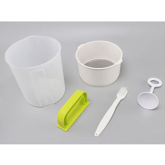 BESTONZON 4PCS 1.5L Plastic Soyk Milk Maker Filter Set leche de soja tamiz tuerca leche alternativa que incluye filtro Cup Rod Brush: Amazon.es: Hogar