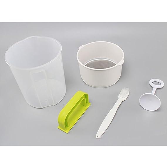 BESTONZON 4PCS 1.5L Plastic Soyk Milk Maker Filter Set leche de soja tamiz tuerca leche alternativa que incluye filtro Cup Rod Brush: Amazon.es: Hogar