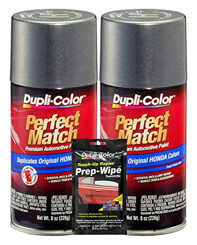 Dupli-Color Polished Metal (M) Exact-Match Automotive Paint - 8 oz, Bundles Prep Wipe (3 Items)