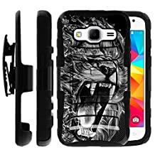 Samsung Galaxy Core Prime Case | Samsung Prevail LTE Holster Case by Untouchble [Heavy Duty Clip] Dual Layer Rugged Hybrid Armor [Kickstand] [Swivel Belt Holster Clip] - Roaring Lion