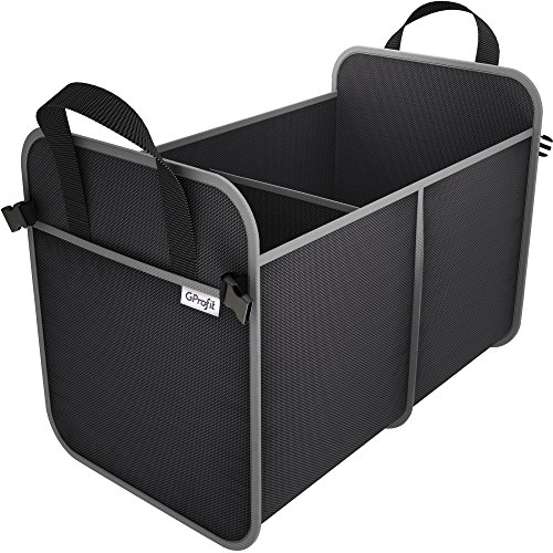 Trunk Organizer for Car - SUV - Space Saving Cargo Storage Containers for Vehicles - Auto - with 2 Large Compartments - Durable - Heavy Duty - Collapsible - (Cargo Storage Containers)