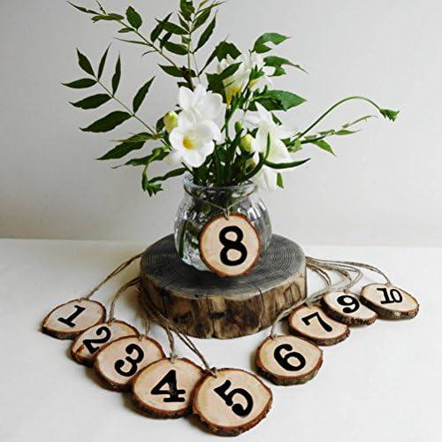 Comeyou Numeri Di Tavolo In Legno Rustico 1 10 Numeri Di Centrotavola Per Matrimoni Compleanno Decorazioni Decorazioni Ricevimento
