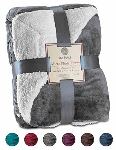 Genteele Sherpa Throw Blanket Super Soft Reversible Ultra Luxurious Plush Blanket (50