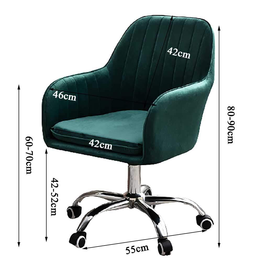 GAOPANG kontorsstol ergonomisk skrivbordsstol sammet stoppad och tyst hjul, justerbar 360° svängbar stol gRÖN
