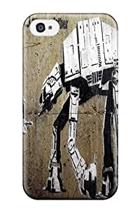 New Premium DanRobertse Star Wars Banksy At-at Skin Case Cover Excellent Fitted For Iphone 4/4s