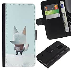 KingStore / Leather Etui en cuir / Samsung Galaxy S5 V SM-G900 / Mignon Écharpe