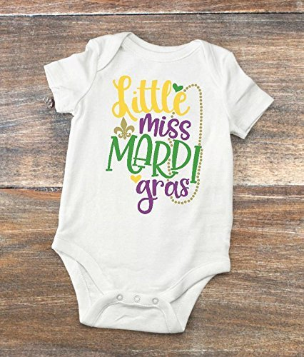 Mardi Gras Baby Bodysuit - New Orleans Native Baby Shower Present ()