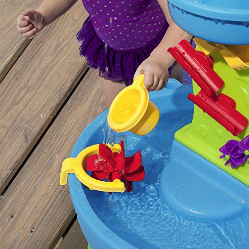 51d8e24mSBL - Step2 Rain Showers Splash Pond Water Table | Kids Water Play Table with 13-Pc Accessory Set