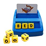 Itian Match and Spell Board Game For Children And Preschoolers Family Fun Developmental Puzzle Games Alphabet Letter Word Spelling Games