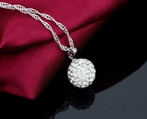 Unendlich U 925 Sterling Silber /Österreichischer Kristall Schneekugel-Anh/änger Halskette f/ür Damen//M/ädchen