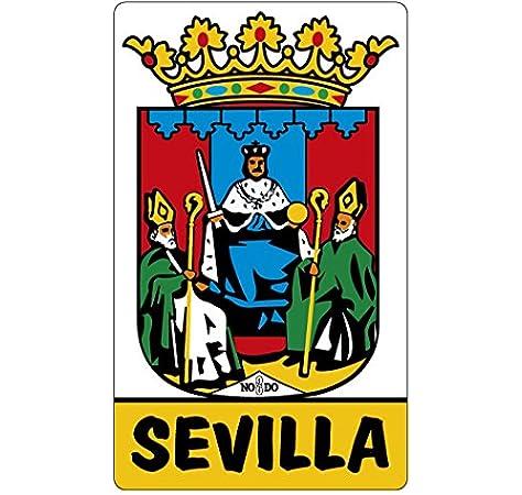 Artimagen Pegatina Escudo Sevilla 50x80 mm.: Amazon.es: Coche y moto
