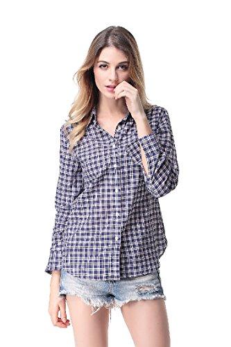 Pau1Hami1ton G-03 womens button down blouse(M,10) (Halloween Date Uk)