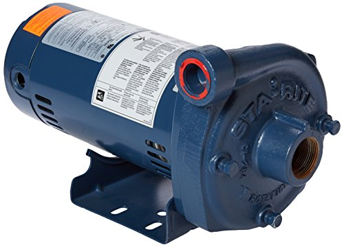 Pentair Sta-Rite JHF-51HL Single Phase Cast Iron Centrifugal Pump and Motor Assembly, 1-1/2 HP