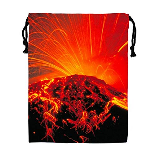 Volcano Eruption Party Favors Bags Gift Candy Drawstring Pouch