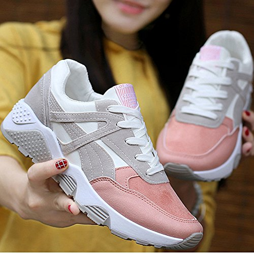 Shoes Athletic Fashion Breathable Lightweight Walking Women's Sneakers Running Pink xnaA4zxUf