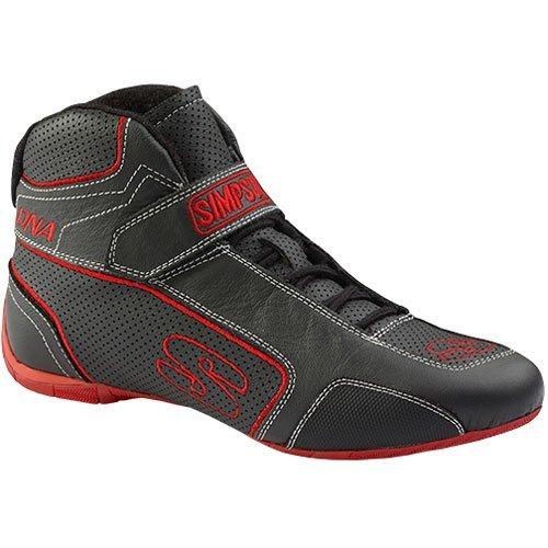 Simpson DA750R DNA Shoe Size 7.5 Black//Red