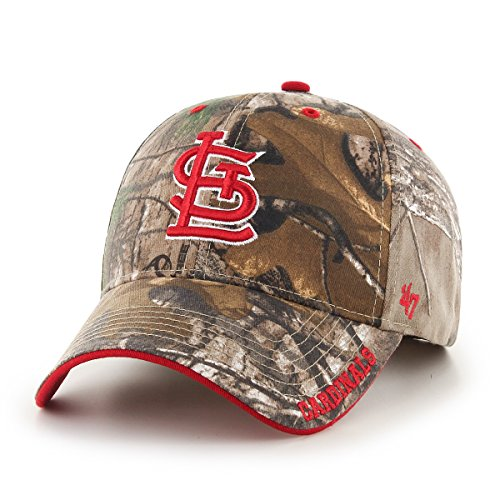 '47 MLB St. Louis Cardinals Frost MVP Camo Adjustable Hat, One Size Fits Most, Realtree Camouflage (Louis Gear Cardinals)