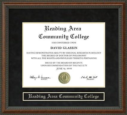 Amazoncom Reading Area Community College Racc Diploma Frame