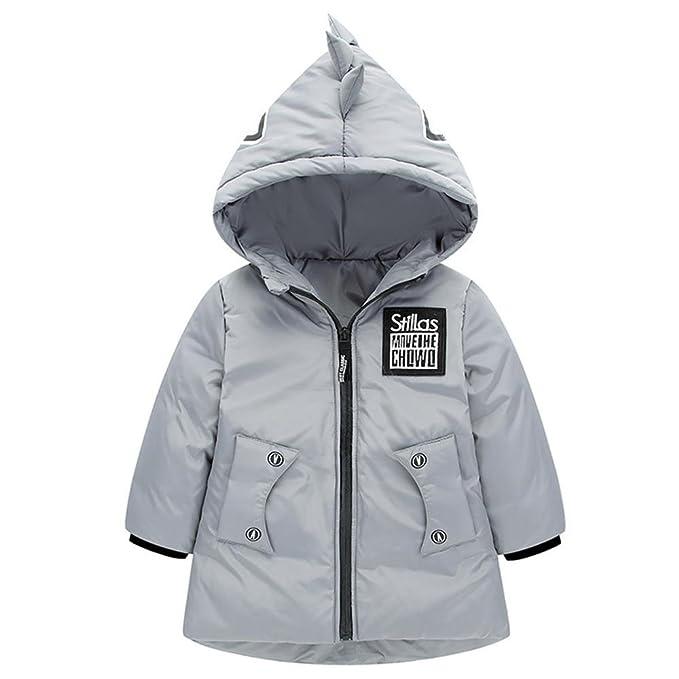 Pequeño monstruo invierno nuevo desgaste de los niños de los niños gruesos chaqueta niños y niñas
