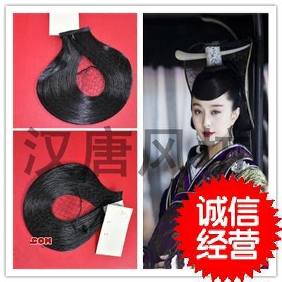 usongs Black costume fake bangs curved shape forehead hair ornaments Bing Bing Fan Zhuang Ji Fa authentic clearance