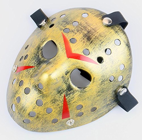 Gmasking Friday The 13th Horror Hockey Jason Vs. Freddy Mask Halloween Costume Prop (Bronze)