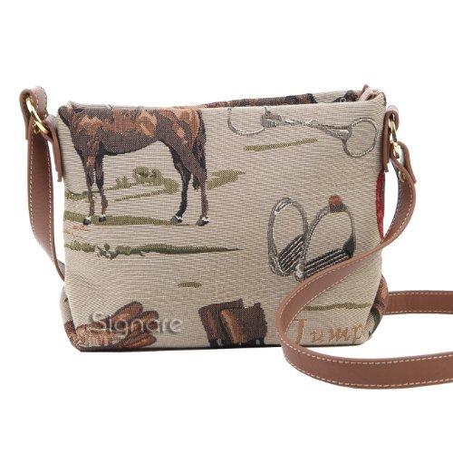 Signare sac de messager sac porté-croisé d'épaule tapisserie mode femme Cheval