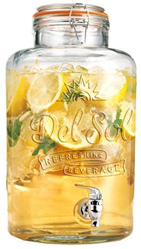 glass 2 gallon beverage dispenser - 7