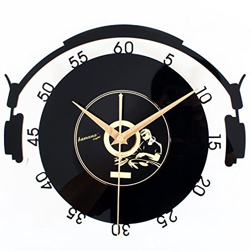 Vinyl Records CD Stereo Style Wall Clock Acrylic Wall Clock Crystal Material Wall Clock Creative Retro Art by Other
