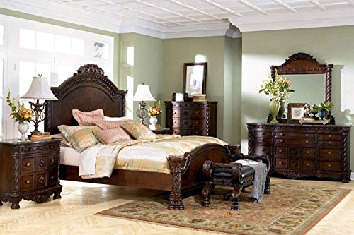 """Ashley Furniture """"North Shore 4 Piece Panel Bedroom Set in Queen, King or California King (Queen)"""