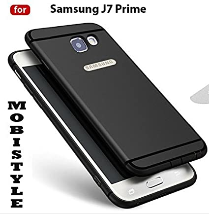 aae0ea5bea MOBISTYLE 360 Degree Soft Silicone With Anti Dust Plugs And Logo Cut Shockproof  Slim Back Cover For SAMSUNG J7 PRIME (BLACK WITH SHINING LINE): Amazon.in:  ...